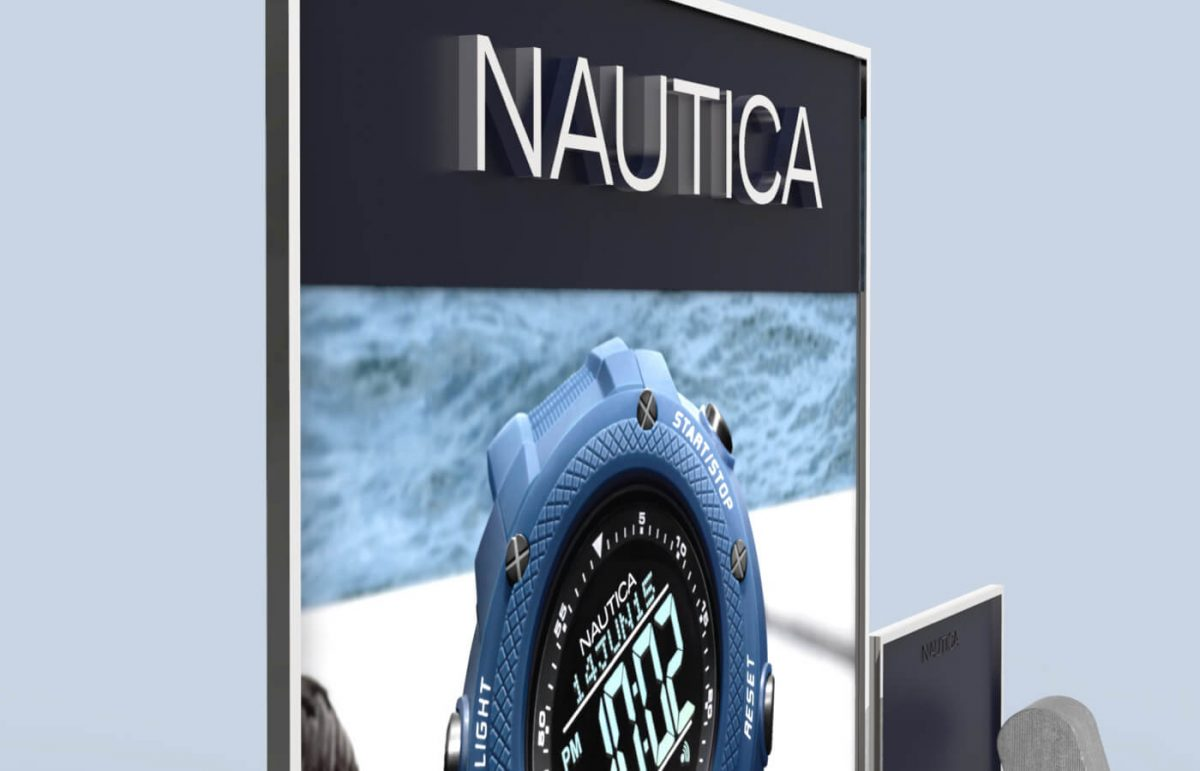 Nautica watches display the sea in town